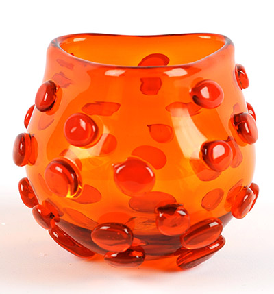Vase #597 by Wayne Husted for the Blenko Glass Co.